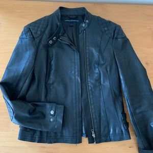 Faux leather jacket with minor defect